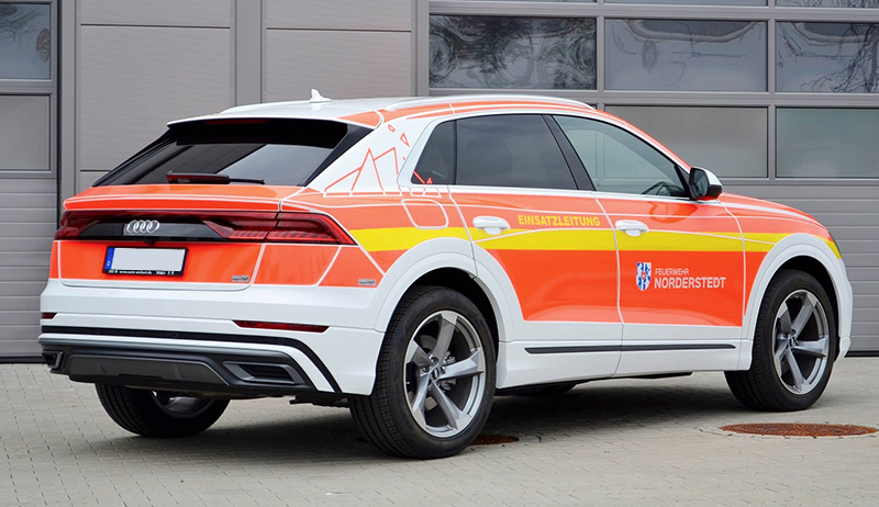 Kuki Design Feuerwehr Norderstedt Corporate Identity Design Fahrzeugbeklebung