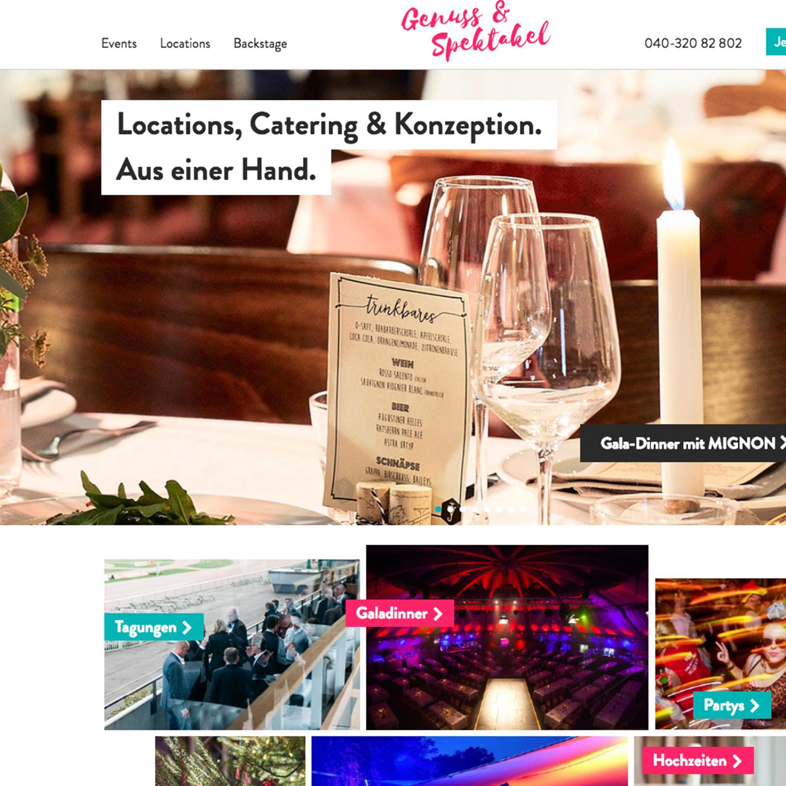 Kuki Design Migus Genuss & Spektakel Vorschau Webseitengestaltung Webumsetzung