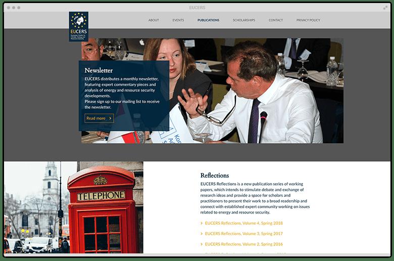 Kuki Design Portfolio Kunde EUCERS Desktop Ansicht