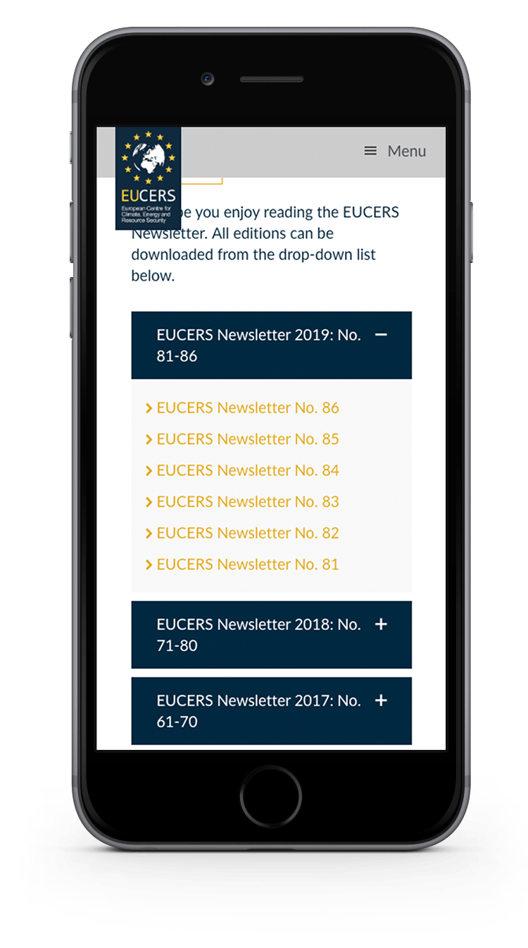 Kuki Design Web Gestaltung Umsetzung EUCERS Responsive WordPress Detail Ansicht Smartphone