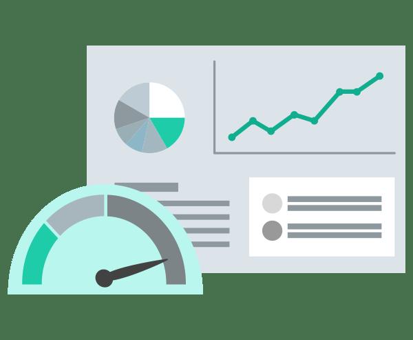 Illustration Service WordPress Stabilität Updates Geschwindigkeit Ladezeit