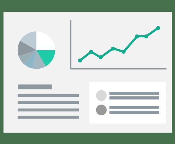 Illustration Arbeitsablauf Analyse Konzept Konkurrenten Markt