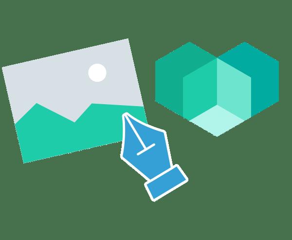 Illustration Arbeitsablauf Corporate Design Gestaltung Logo Briefpapier Entwürfe Branding