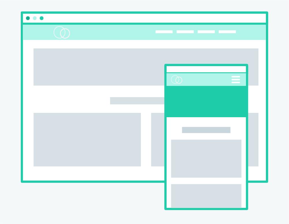 Illustration Webdesign Mobile Responsive UX Design