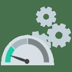 Illustration Webdesign Stabilität Updates Geschwindigkeit Ladezeit