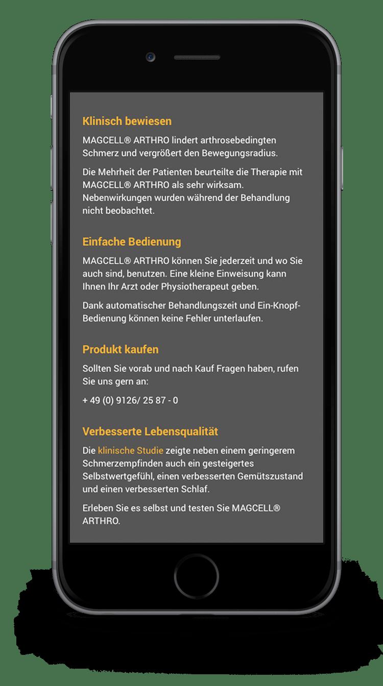 Kuki Design Web Gestaltung Umsetzung MAGCELL Responsive WordPress SEO Ansicht Smartphone