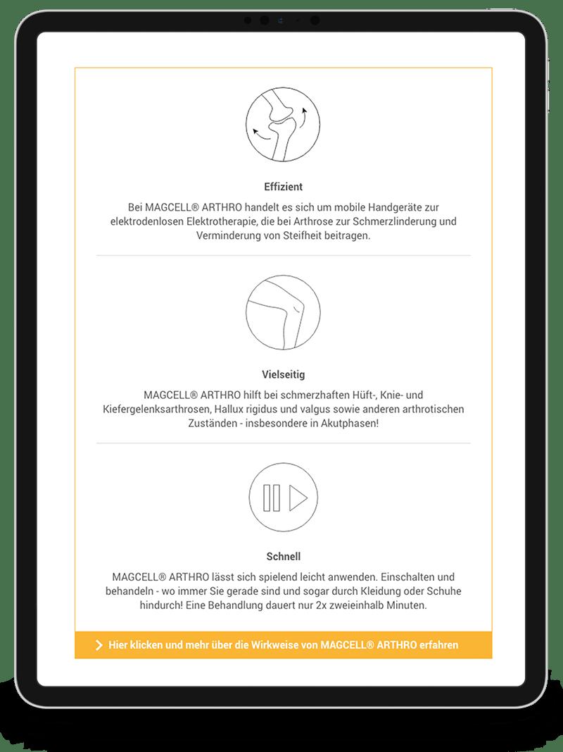 Kuki Design Portfolio Kunde MAGCELL Tablet Ansicht Responsive Design