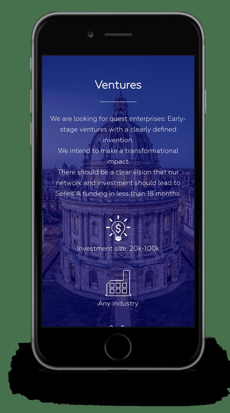 Kuki Design Web Gestaltung Umsetzung Logogestaltung Quest Capital Responsive WordPress Ventures Ansicht Smartphone