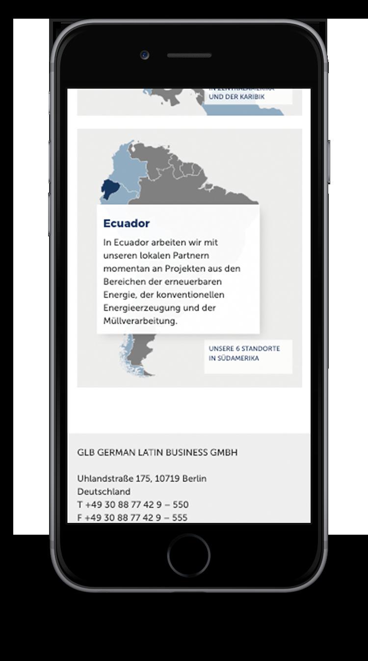 Kuki Design Web Gestaltung Umsetzung Corporate Design German Latin Business Responsive WordPress Unterseite Netzwerk Popup Ansicht Smartphone