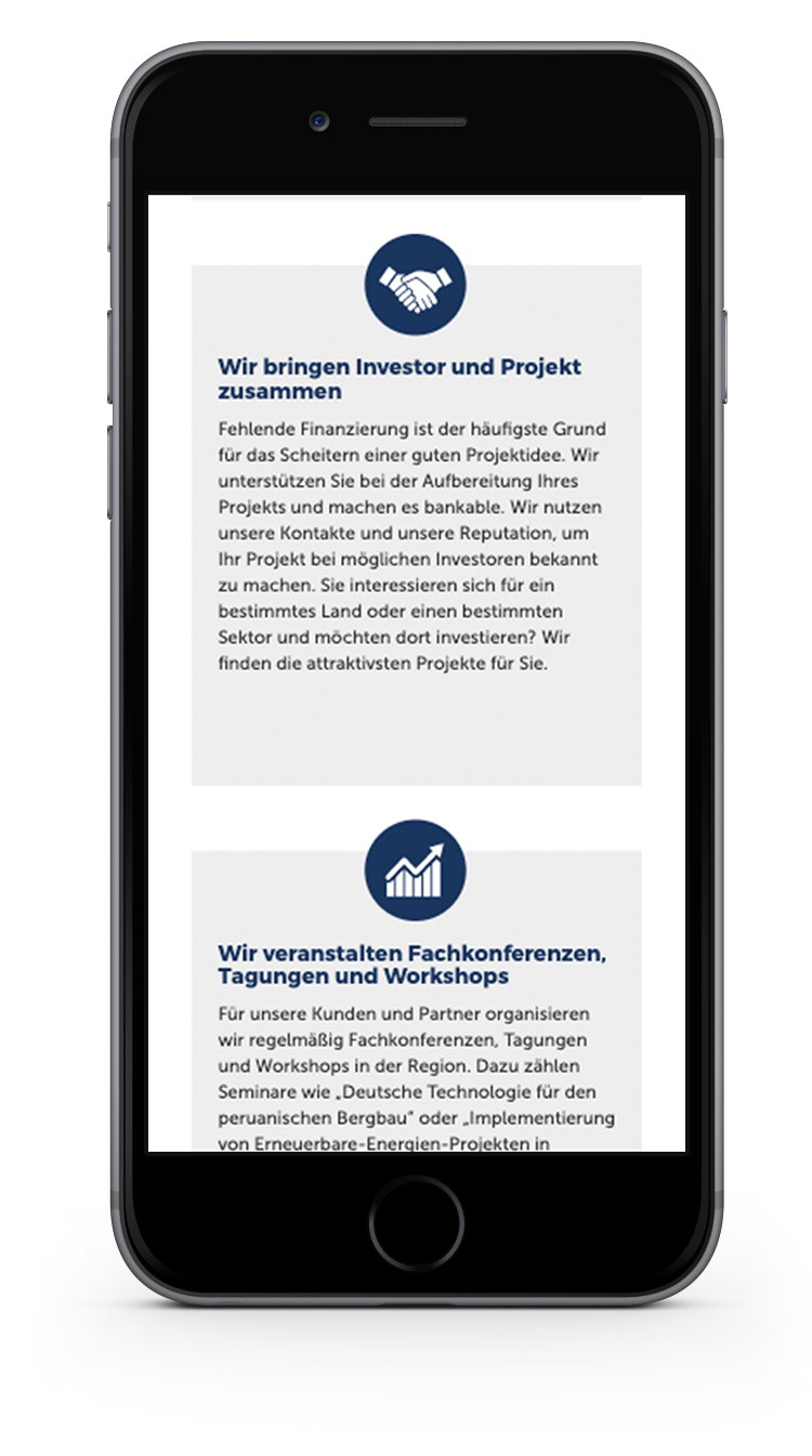 Kuki Design Web Gestaltung Umsetzung Corporate Design German Latin Business Responsive WordPress Icons Ansicht Smartphone