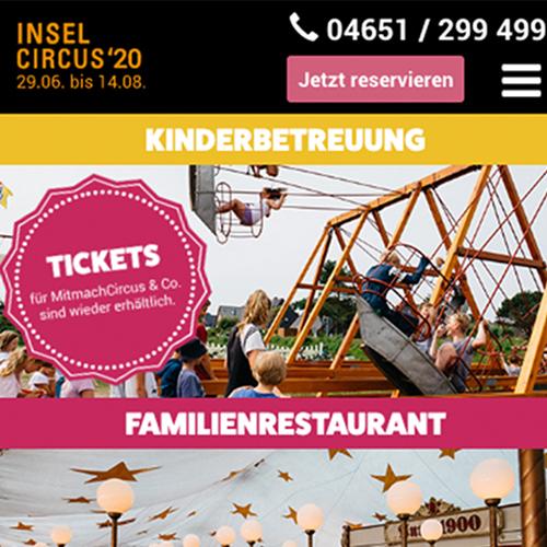 Kuki Design InselCircus Vorschau Webseitengestaltung