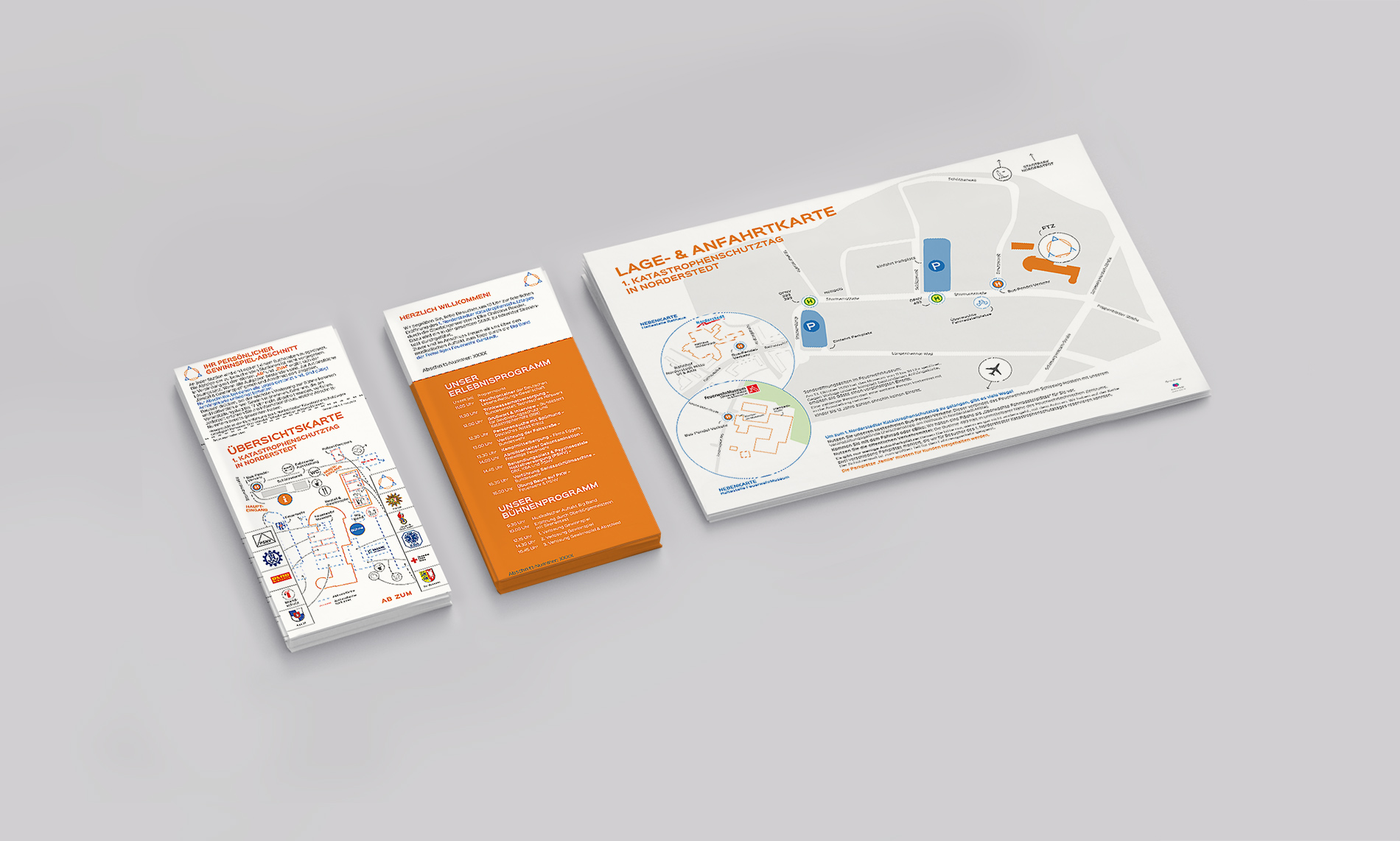 Kuki Design Corporate Design Katastrophenschutz Norderstedt Gestaltung Geschäftspapier, Flyer, Logogestaltung, Farbgebung, Mockup