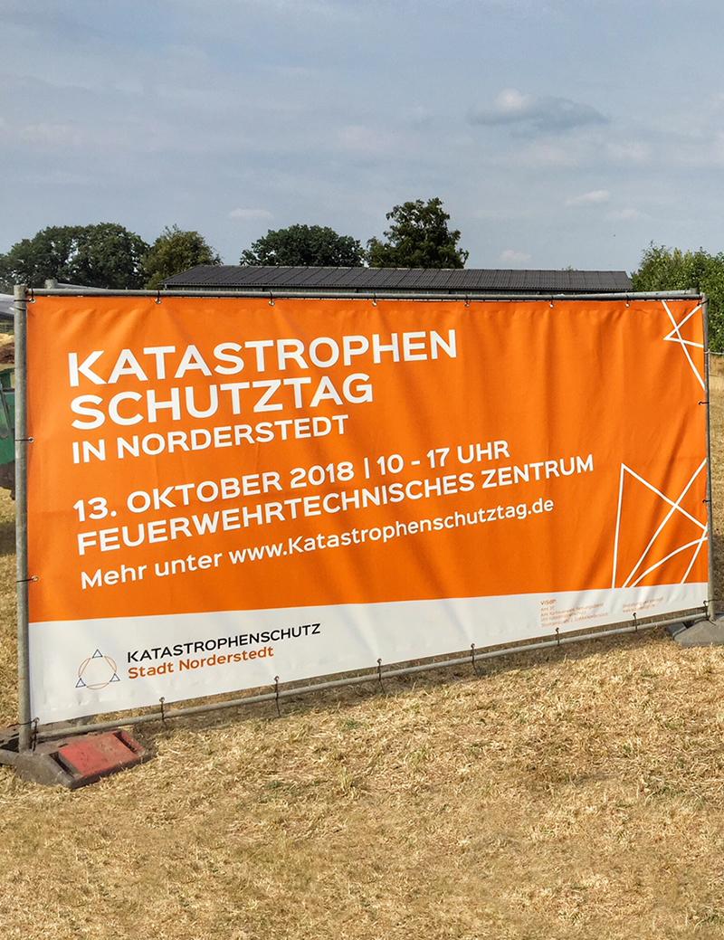 Kuki Design Corporate Design Katastrophenschutz Norderstedt Gestaltung Plakat, Logogestaltung, Farbgebung, Mockup