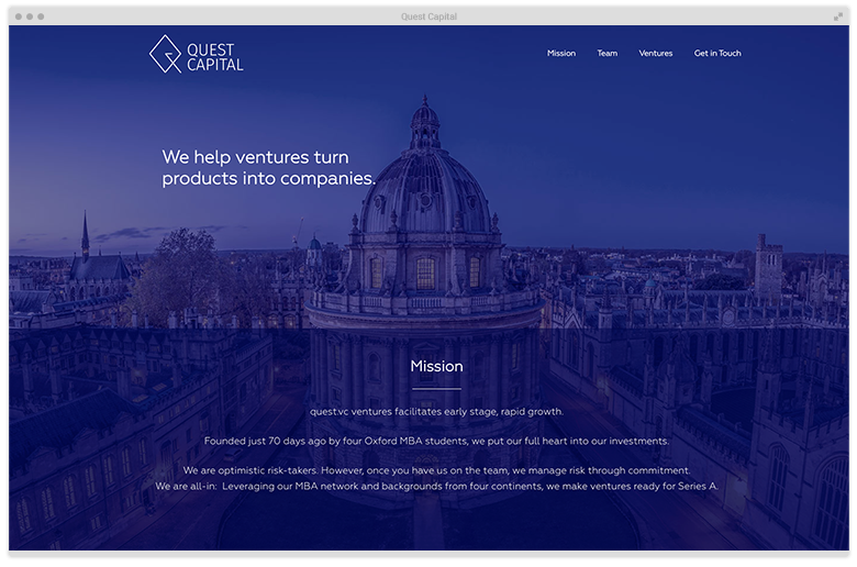Kuki Design Web Gestaltung Umsetzung Logogestaltung Quest Capital Responsive WordPress