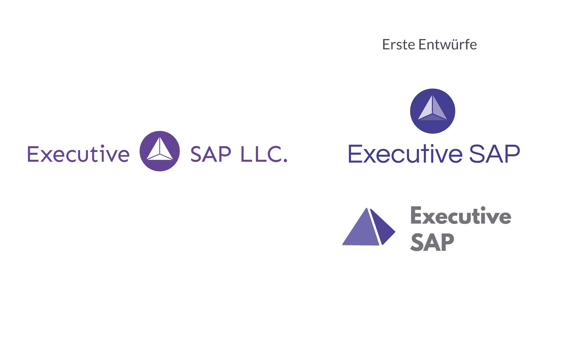 Kuki Design Executive SAP Logogestaltung Vergleich mit ersten Entwürfen