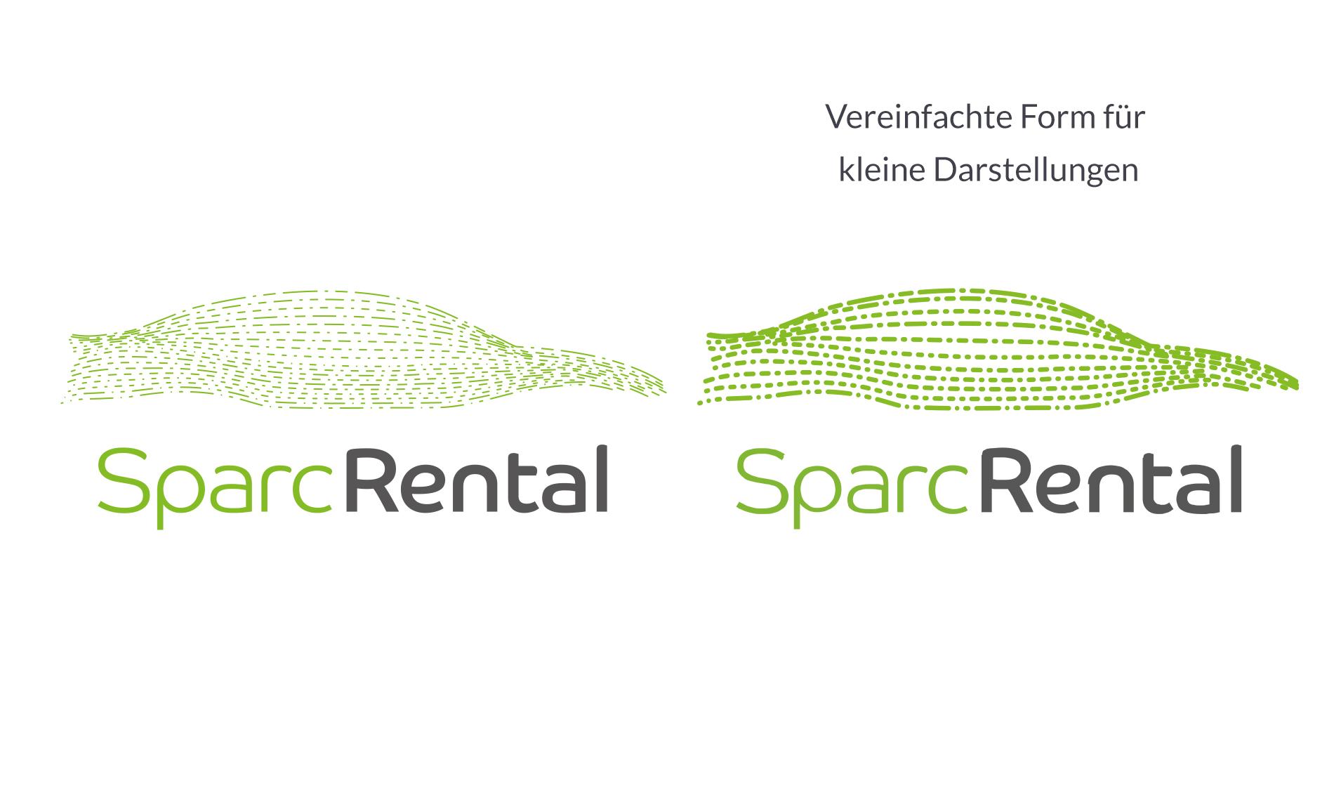 Kuki Design SparcRental Logogestaltung Vergleich einfache Version